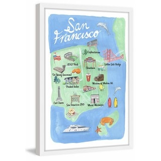 Marmont Hill - 'San Francisco Site Map' Framed Painting Print