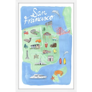 Marmont Hill - 'Enchanting San Francisco' Framed Painting Print