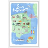 Marmont Hill - 'Enchanting San Francisco' Framed Painting Print