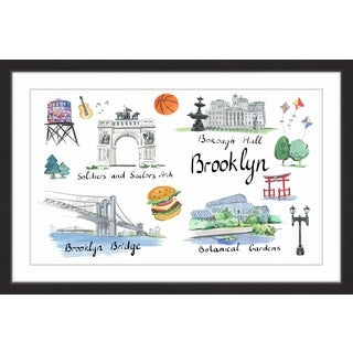 Marmont Hill - 'Brooklyn Sites' Framed Painting Print