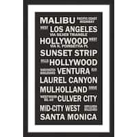 Marmont Hill - 'Cali Sites' Framed Painting Print