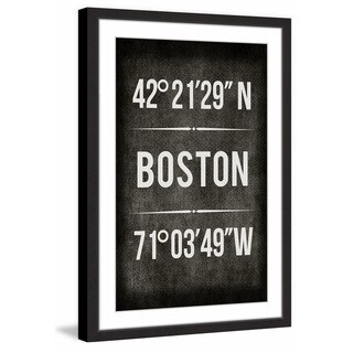 Marmont Hill - 'Boston B/W' Framed Painting Print