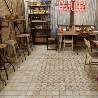 SomerTile 13x13-inch Aragon Blanco Ceramic Floor and Wall Tile (10/Case, 12.2 sqft.)