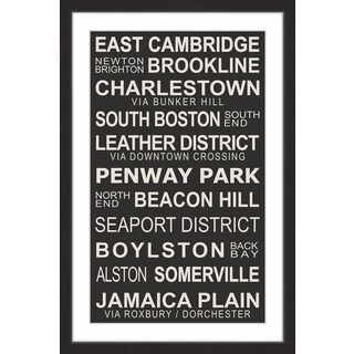 Marmont Hill - 'Boston Suburbs' Framed Painting Print