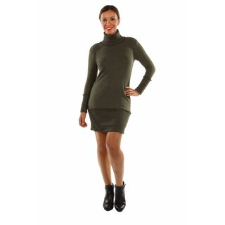 24/7 Comfort Apparel Sleek Autumn Mock Turtleneck Dress