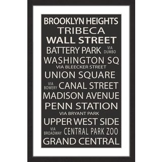 Marmont Hill - 'NY Neighborhoods' Framed Painting Print