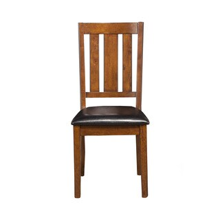 Alpine Pratt Cappuccino Rubberwood Chairs (Set of 2)