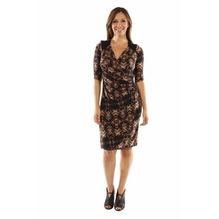 24/7 Comfort Apparel Unforgettable First Impression Faux Wrap Dress