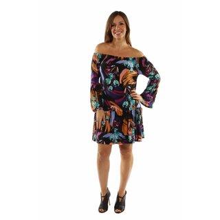 24/7 Comfort Apparel Lush Tropical Drama Party Dress