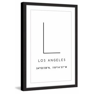 Marmont Hill - 'L for Los Angeles' Framed Painting Print