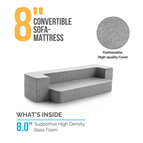 Shop LUCID 8-inch Folding Sofa Mattress - Free Shipping ...