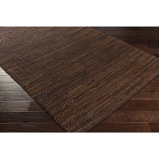 Hand-Woven Aquarius Leather Rug (2' x 3')