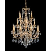 Crystorama Etta Collection 16-light Olde Brass/Crystal Chandelier
