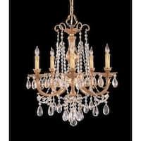 Crystorama Etta Collection 5-light Olde Brass/Swarovski Strass Crystal Chandelier
