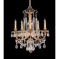 Crystorama Etta Collection 5-light Olde Brass/Swarovski Elements Spectra Crystal Chandelier