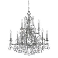 Crystorama Dawson Collection 9-light Pewter/Crystal Chandelier