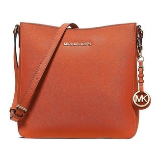 Michael Kors Large Jet Set Travel Orange Crossbody Handbag