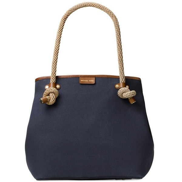 31bac204a39eaa Shop Michael Kors Maritime Admiral Blue Large Beach Tote Bag - Free  Shipping Today - Overstock - 14388849