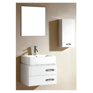 Dawn Vanity Set: Sink Top, Cabinet, Side Cabinet and Mirror