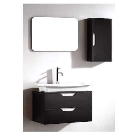 Dawn Vanity Set: Sink Top, Cabinet, Side Cabinet and Frameless Mirror