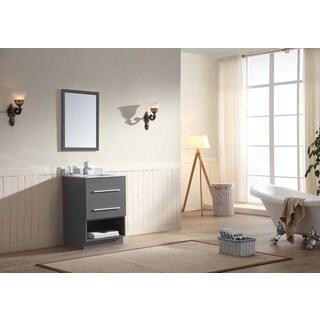 Dawn Vanity Set (Counter Top, Backsplash, Cabinet, Cabinet Base and Mirror included) Wall Mount Dark Grey Vanity