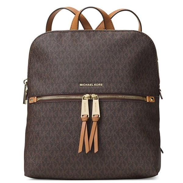 5d9efab795e8 Shop MICHAEL Michael Kors Rhea Medium Slim Backpack - Brown - Free ...