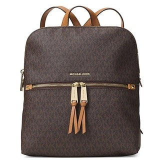 MICHAEL Michael Kors Rhea Medium Slim Backpack - Brown