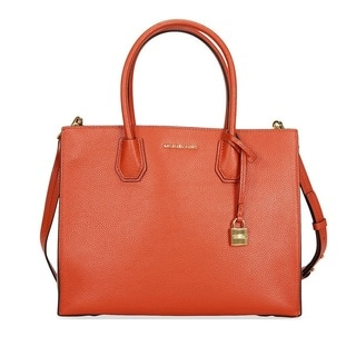 Michael Kors Mercer Large Orange Convertible Tote Bag