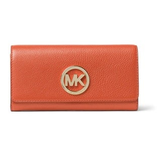 Michael Kors Fulton Orange Carryall Wallet