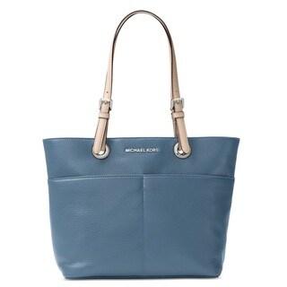 Michael Kors Bedford Denim Blue Pocket Tote Bag