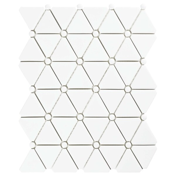SomerTile 10.125x12.875-inch Expresiones Treux White Glass Mosaic Floor and Wall Tile (10 tiles/9.1 sqft.)