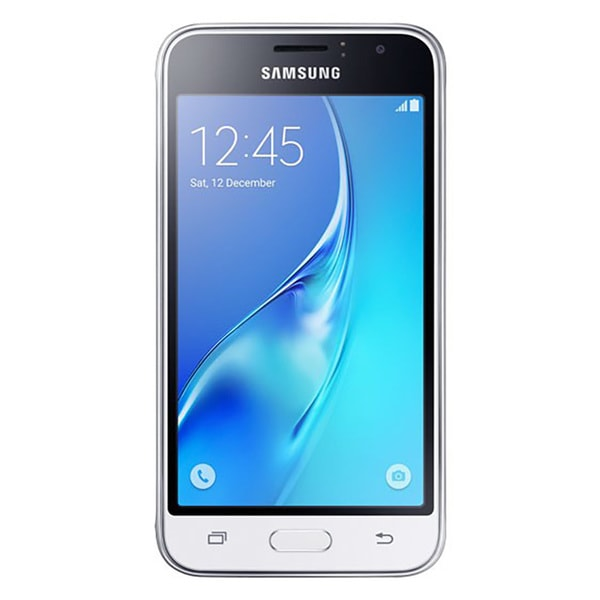 shop samsung galaxy j1 2016 j120a at t unlocked 4g lte quad core phone white certified. Black Bedroom Furniture Sets. Home Design Ideas