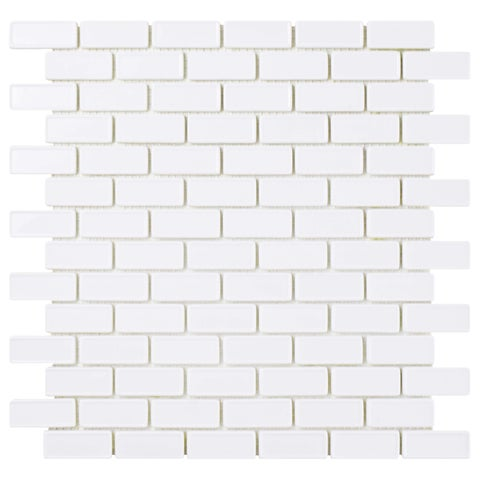 SomerTile 11.75x12-inch Expresiones Recessed Subway White Glass Mosaic Floor and Wall Tile (10 tiles/9.8 sqft.)