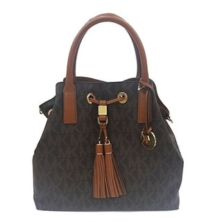 Michael Kors Camden Brown GL Brown Signature Satchel Handbag