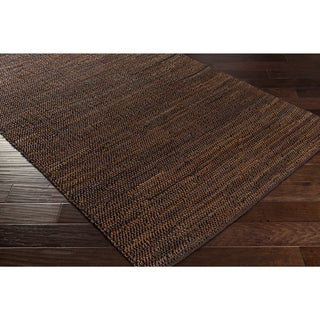 Hand-Woven Aquarius Leather Rug (8' x 10')