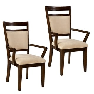 Avion Upholstered Dining Chair With Arms (Set of 2)