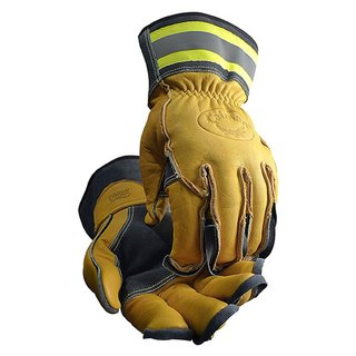 Caiman Tuff Steer Hi-Viz Yellow Extra-large Boarhide Utility Iron Workers Gloves