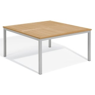 Oxford Garden Travira 60-inch Square Dining Teak Top Table