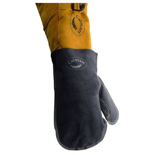Caiman 1879-1 Grey Boarhide One-size-fits-all Welding Cover Mitt for Glove