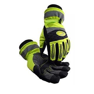 Caiman Rhino-Tex Heatrac III Hi-Vis Green Synthetic Fiber Large Gloves