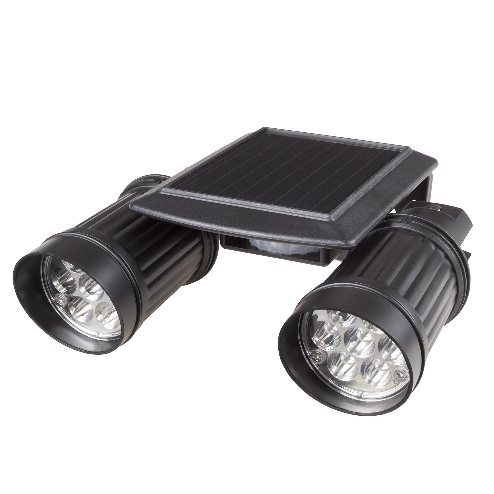 Stalwart Solar Powered 14 LED Dual Head Motion Sensor Wal...