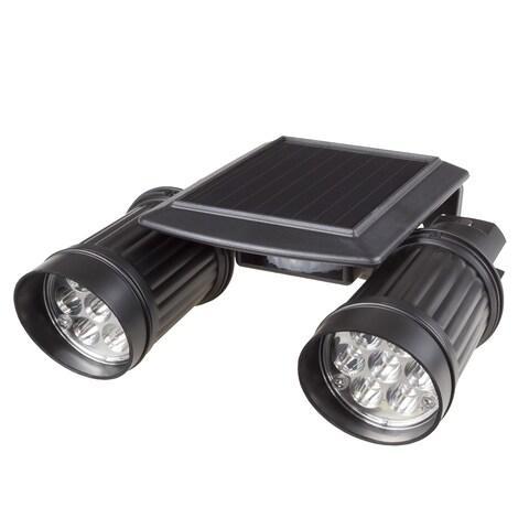 Solar Power Motion LED Light- Outdoor Illumination Bright Dual Spotlights by Stalwart