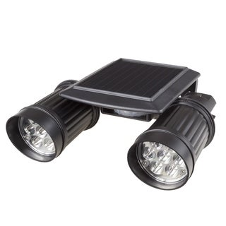 Solar Power Motion LED Light- Outdoor Illumination Bright Dual Spotlights by Stalwart
