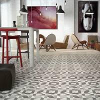 SomerTile 5.875x5.875-inch Calluna Llevant Porcelain Floor and Wall Tile (22 tiles/5.73 sqft.)