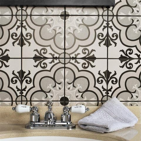 SomerTile 5.875x5.875-inch Calluna Solano Porcelain Floor and Wall Tile (22 tiles/5.73 sqft.)