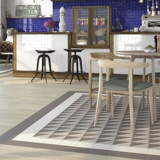 SomerTile 5.875x5.875-inch Calluna White Porcelain Floor and Wall Tile (22 tiles/5.73 sqft.)