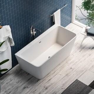 Maykke 59-inch Pompano Freestanding Bathtub