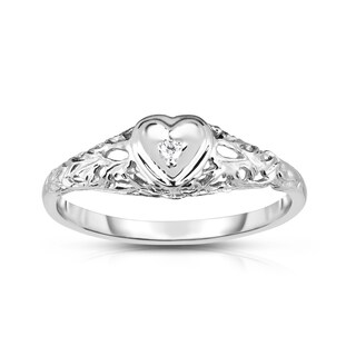 Noray Designs 14k Gold Diamond Accent Heart Ring (More options available)