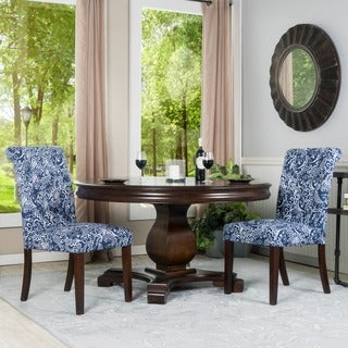 Somette Ladue Blue Tufted Dining Chair (Set of 2)