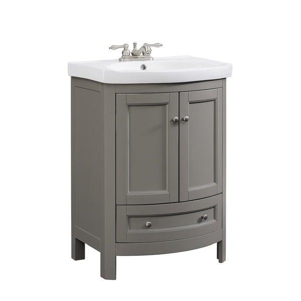 Shop Bellina Grey 24 Inch Single Bathroom Vanity Set